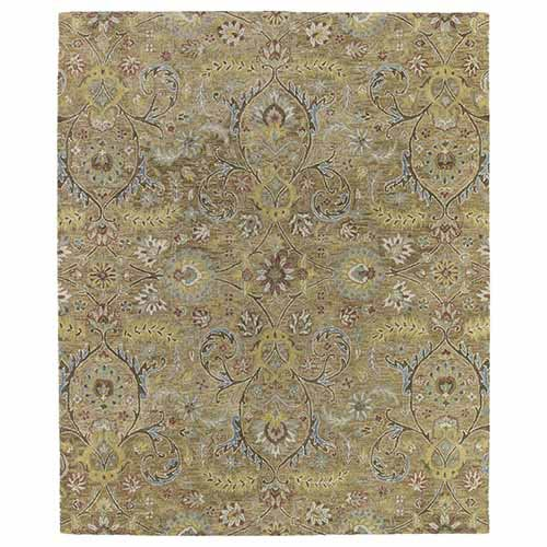 Helena Gold Hand Tufted 2Ft. x 3Ft. Rectangle Rug