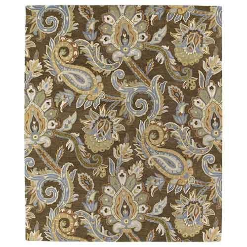 Kaleen Rugs Helena Collection Odyusseus Brown Rectangular: 5 Ft. x 7 Ft. 9 In. Rug