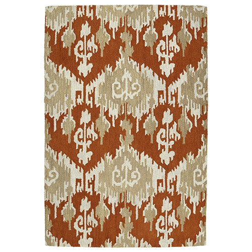 Casual Paprika Hand Tufted 2Ft. x 3Ft. Rectangle Rug
