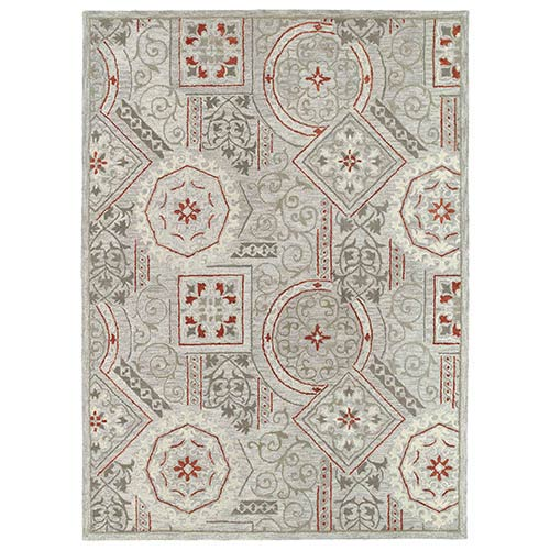 Kaleen Rugs Brooklyn Xander Pewter Rectangular: 5 Ft. x 7 Ft. 6 In. Rug