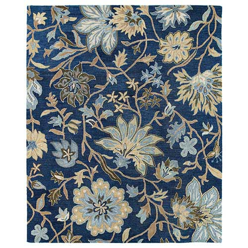 Kaleen Rugs Brooklyn Blue Rectangular: 5 Ft. x 7 Ft. 6 In. Rug