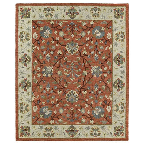 Kaleen Rugs Brooklyn Brick Rectangular: 5 Ft. x 7 Ft. 6 In. Rug