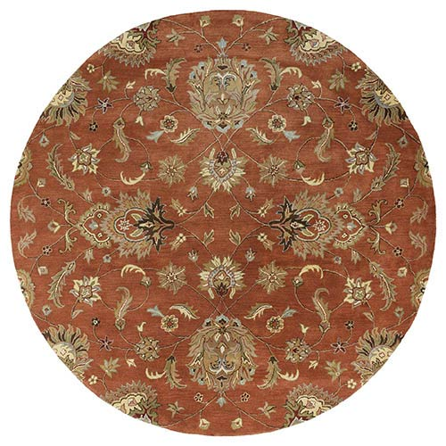 Mystic Europa Copper Round: 7 Ft. 9 In. Rug