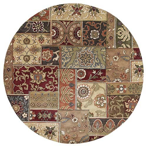 Kaleen Rugs Mystic Aral Charcoal Round: 7 Ft. 9 In. Rug