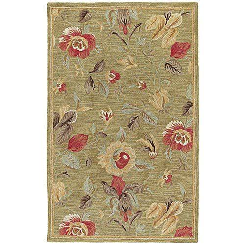 Kaleen Rugs Khazana Olive Rectangular: 9 Ft. 6 In. x 13 Ft. Rug