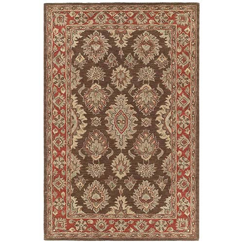 Kaleen Rugs Khazana Coffee Rectangular: 9 Ft. 6 In. x 13 Ft. Rug