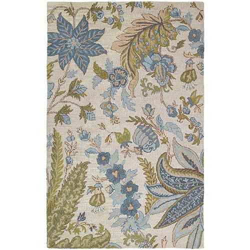 Kaleen Rugs Khazana Bali Ivory Rectangular: 5 Ft. x 7 Ft. 9 In. Rug