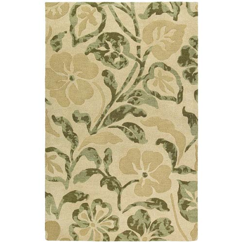 Kaleen Rugs Calais Lily In The Valley Beige Rectangular: 5 Ft. x 7 Ft. 9 In. Rug