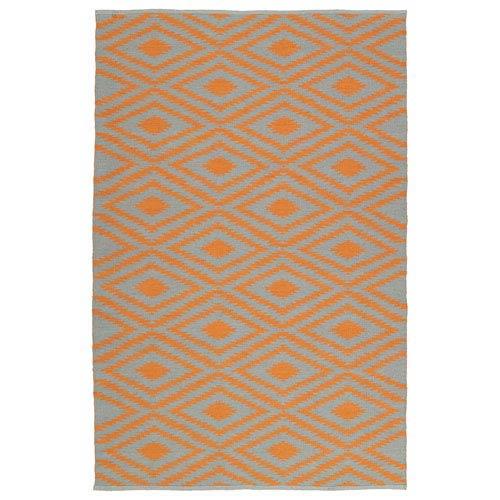 Kaleen Rugs Brisa Grey and Orange Rectangular: 2 Ft x 3 Ft Rug