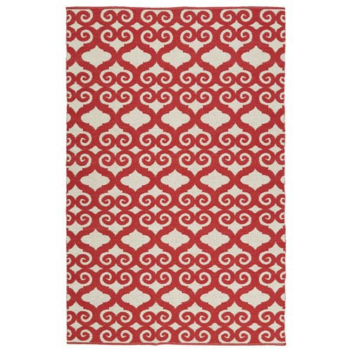 Kaleen Rugs Brisa Ivory and Red Rectangular: 2 Ft x 3 Ft Rug