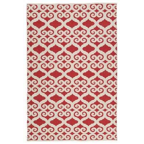 Kaleen Rugs Brisa Red and Ivory Rectangular: 2 Ft x 3 Ft Rug