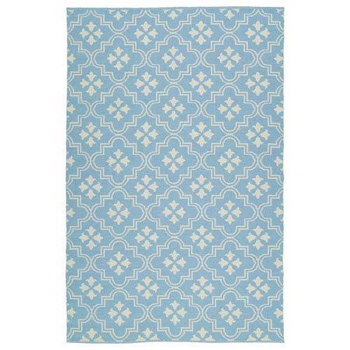 Kaleen Rugs Brisa Light Blue and Ivory Rectangular: 2 Ft x 3 Ft Rug