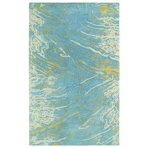 Kaleen Rugs Brushstrokes Blue BRS01 Rectangular: 5 Ft. x 7 Ft. 9 In. Rug