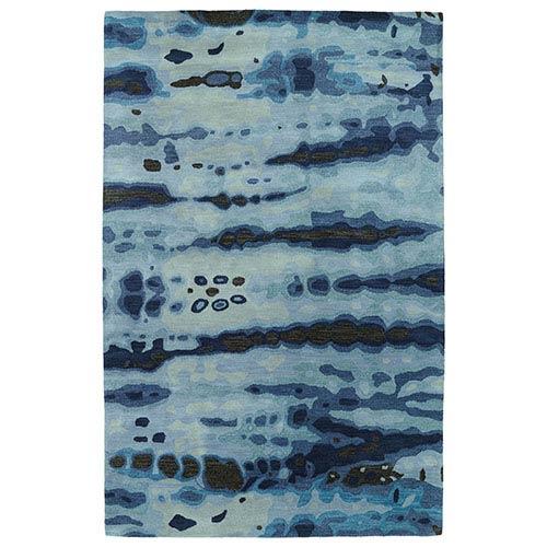 Kaleen Rugs Brushstrokes Blue BRS03 Rectangular: 5 Ft. x 7 Ft. 9 In. Rug