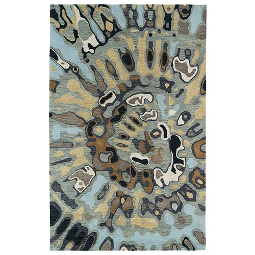 Kaleen Rugs Brushstrokes Multicolor BRS04 Rectangular: 5 Ft. x 7 Ft. 9 In. Rug