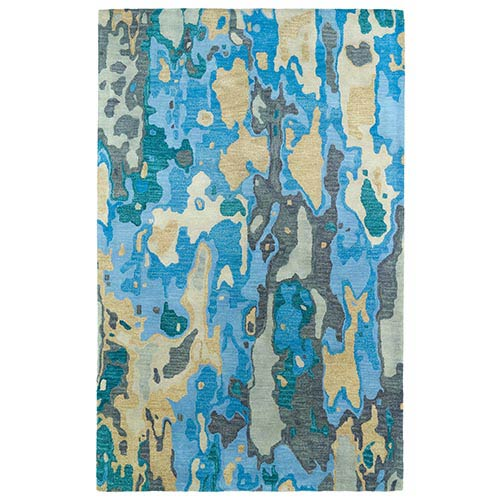 Brushstrokes Blue BRS05 Rectangular: 5 Ft. x 7 Ft. 9 In. Rug