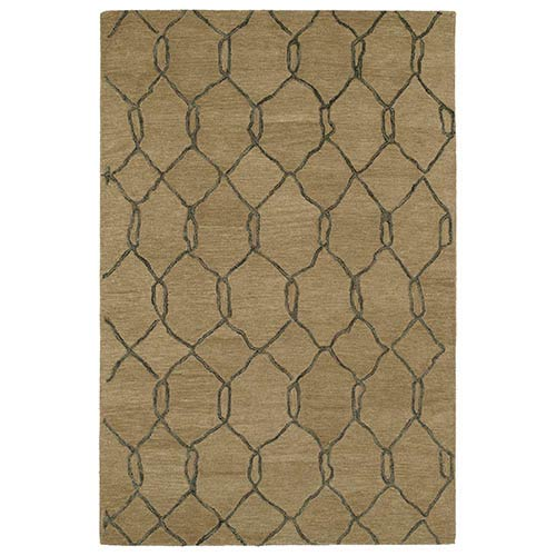 Kaleen Rugs Casablanca Light Brown Rectangular: 5 Ft. x 8 Ft. Rug