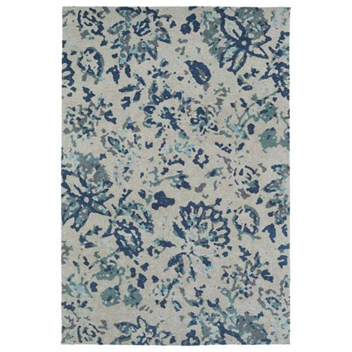 Cozy Toes Blue Rectangular: 2 Ft. x 3 Ft. Rug
