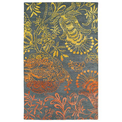 Kaleen Rugs Divine Fire DIV02 Rectangular: 5 Ft. x 7 Ft. 9 In. Rug