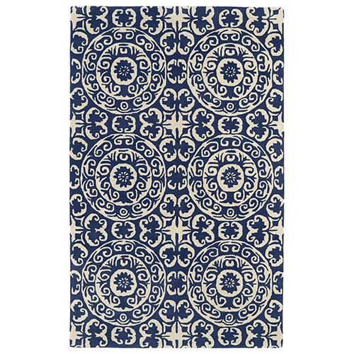 Evolution Navy Hand Tufted 11Ft. 9In Square Rug