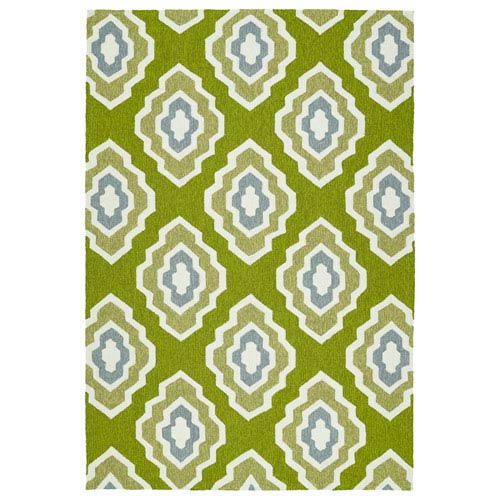 Kaleen Rugs Escape Apple Green and Lime Green Rectangular: 2 Ft x 3 Ft Rug