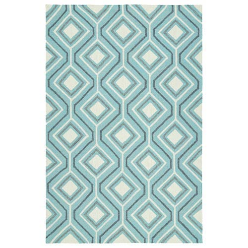 Kaleen Rugs Escape Light Blue and Grey Rectangular: 2 Ft x 3 Ft Rug