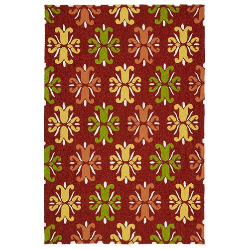 Escape Red Rectangular: 5 Ft x 7 Ft 6 In Rug