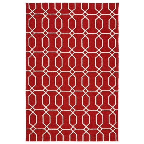 Kaleen Rugs Escape Red and Ivory Rectangular: 2 Ft x 3 Ft Rug