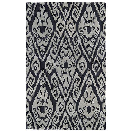 Kaleen Rugs Evolution Charcoal and Grey Rectangular: 5 Ft. x 7 Ft. 9 In. Rug