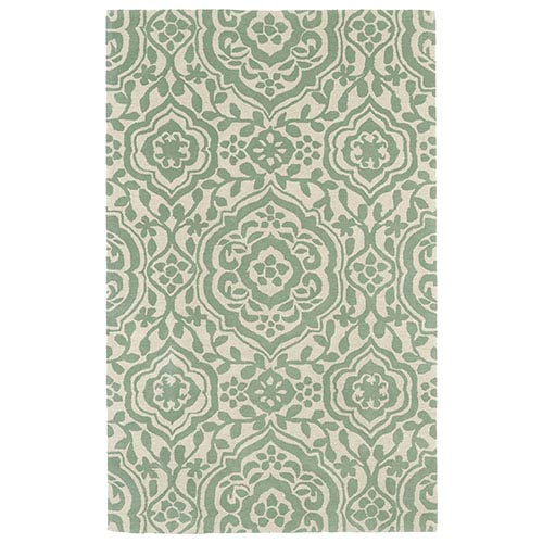 Kaleen Rugs Evolution Mint Rectangular: 5 Ft. x 7 Ft. 9 In. Rug
