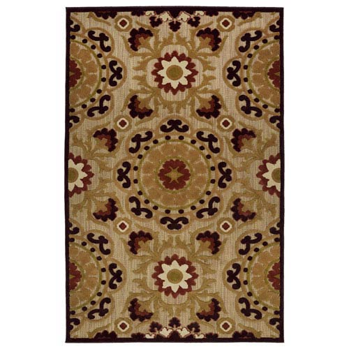 A Breath of Fresh Air  Light Brown Rectangular: 2 Ft 1 In x 4 Ft Rug