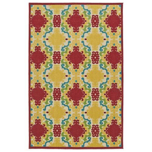 A Breath of Fresh Air  Red Rectangular: 2 Ft 1 In x 4 Ft Rug