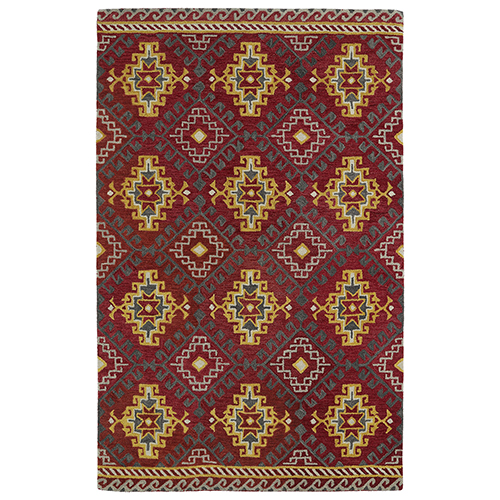 Global Inspirations Red Hand-Tufted 9Ft. x 12Ft. Rectangle Rug