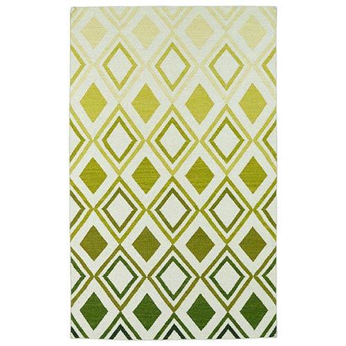 Kaleen Rugs Glam Green GLA09 Rectangular: 5 Ft. x 8 Ft. Rug