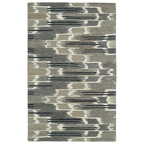 Kaleen Rugs Global Inspirations Grey GLB02 Rectangular: 5 Ft. x 7 Ft. 9 In. Rug