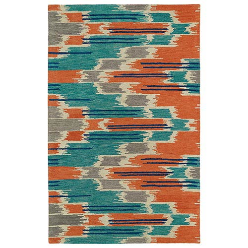 Kaleen Rugs Global Inspirations Multicolor GLB02 Rectangular: 5 Ft. x 7 Ft. 9 In. Rug