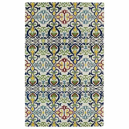 Kaleen Rugs Global Inspirations Multicolor GLB05 Rectangular: 5 Ft. x 7 Ft. 9 In. Rug