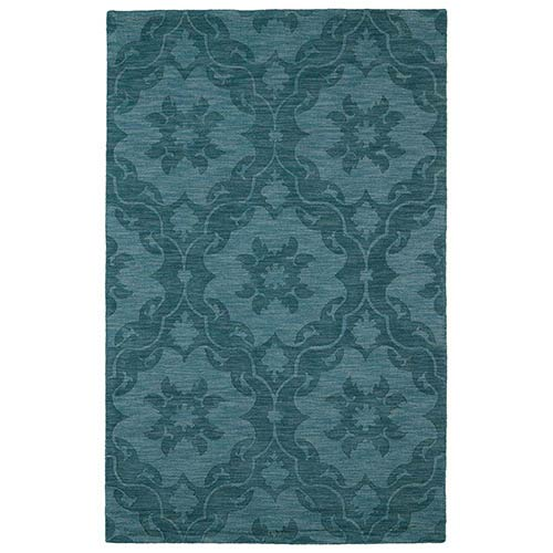 Kaleen Rugs Imprints Classic Turquoise Rectangular: 5 Ft. x 8 Ft. Rug