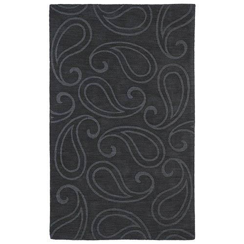 Kaleen Rugs Imprints Classic Charcoal Rectangular: 5 Ft. x 8 Ft. Rug