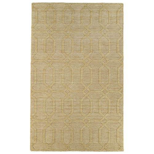 Kaleen Rugs Imprints Modern Yellow Rectangular: 5 Ft. x 8 Ft. Rug