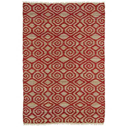 Kaleen Rugs Kenwood Red KEN02 Rectangular: 5 Ft. x 7 Ft. 9 In. Rug