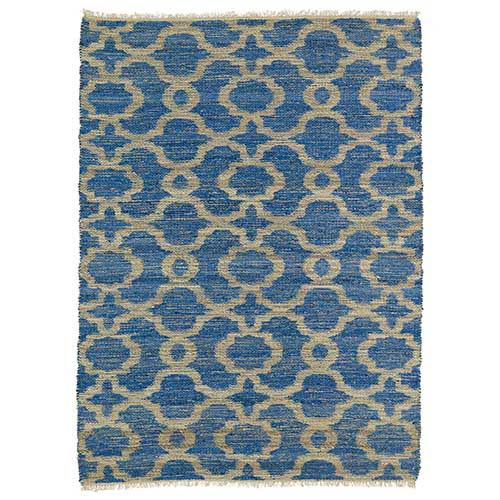 Kaleen Rugs Kenwood Blue KEN07 Rectangular: 5 Ft. x 7 Ft. 9 In. Rug