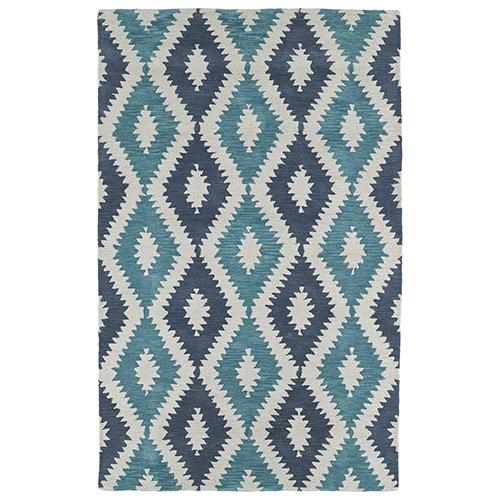 Kaleen Rugs Lakota Turquoise Rectangular: 2 Ft. x 3 Ft.