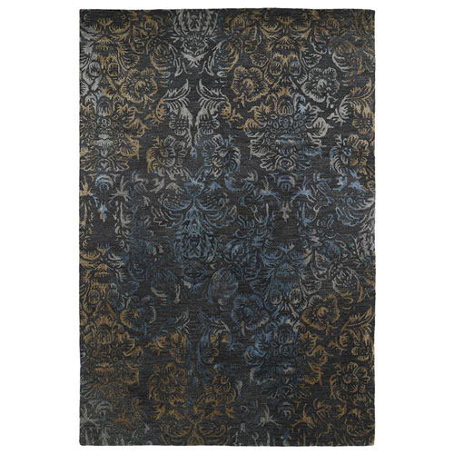 Kaleen Rugs Mercery Charcoal Rectangular: 2 Ft. x 3 Ft.