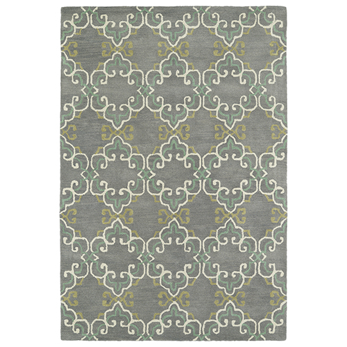 Kaleen Rugs Melange Pewter Rectangular: 2 Ft. x 3 Ft.