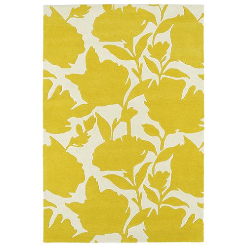 Kaleen Rugs Melange Yellow Rectangular: 2 Ft. x 3 Ft.