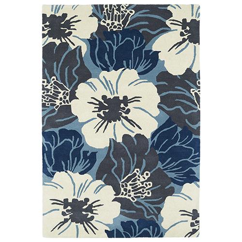 Melange Blue Rectangular: 2 Ft. x 3 Ft.