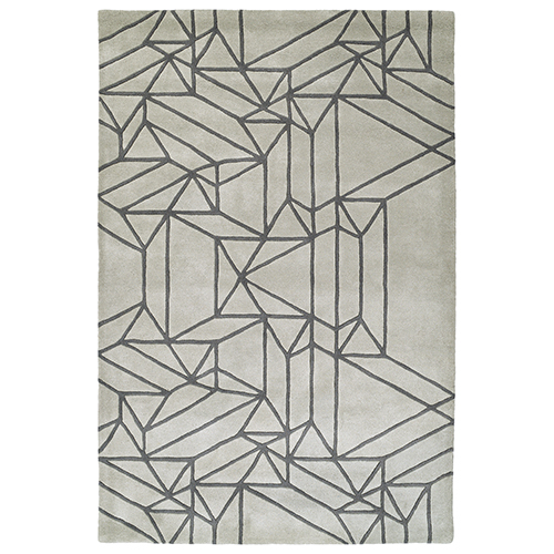 Kaleen Rugs Origami Mint Rectangular: 2 Ft. x 3 Ft.