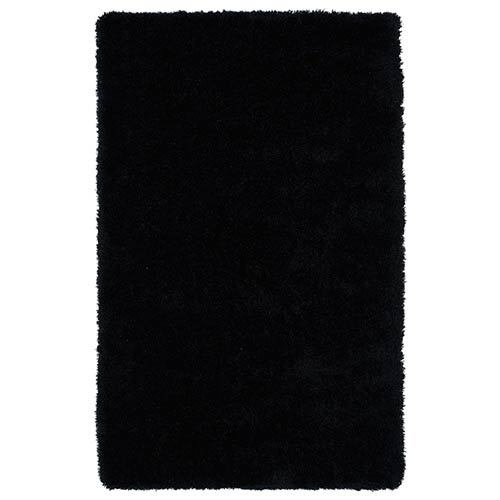 Kaleen Rugs Posh Black PSH01 Rectangular: 5 Ft. x 7 Ft. Rug