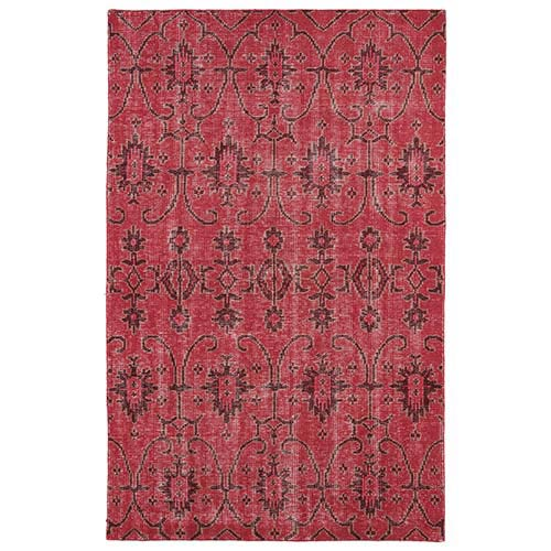 Kaleen Rugs Restoration Red Rectangular: 5 Ft. 6 In. x 8 Ft. 6 In. Rug